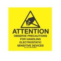 """2 x 2, """"Attention Observe Precautions For Handling Electrostatic Sensitive Devices""""-0"""