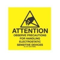 """4 x 4, """"Attention Observe Precautions For Handling Electrostatic Sensitive Devices""""-0"""