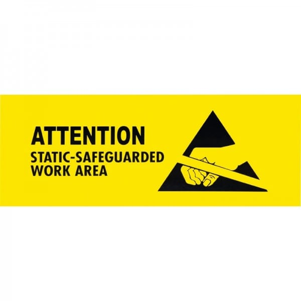 ESD Label, Static Safeguarded Work Area