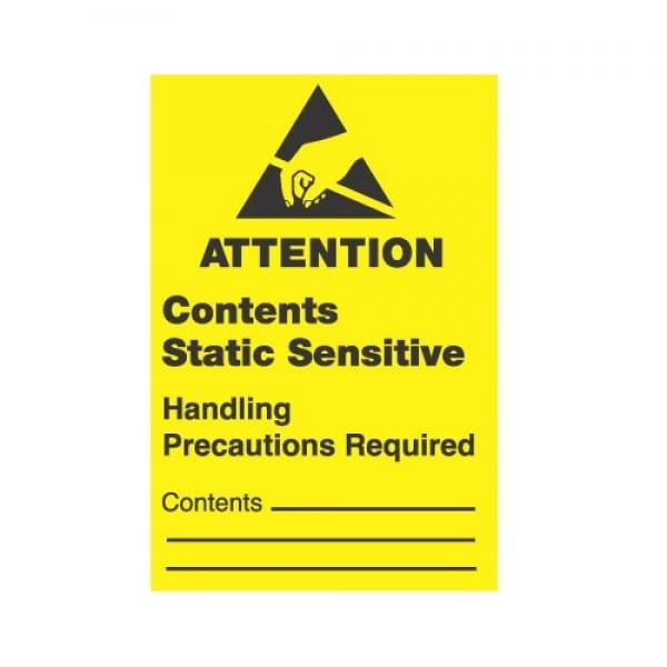 ESD Label, Attention Contents Static Sensitive