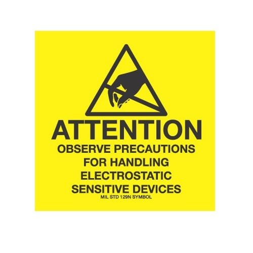 ESD LABELS, Attention Observe Precautions