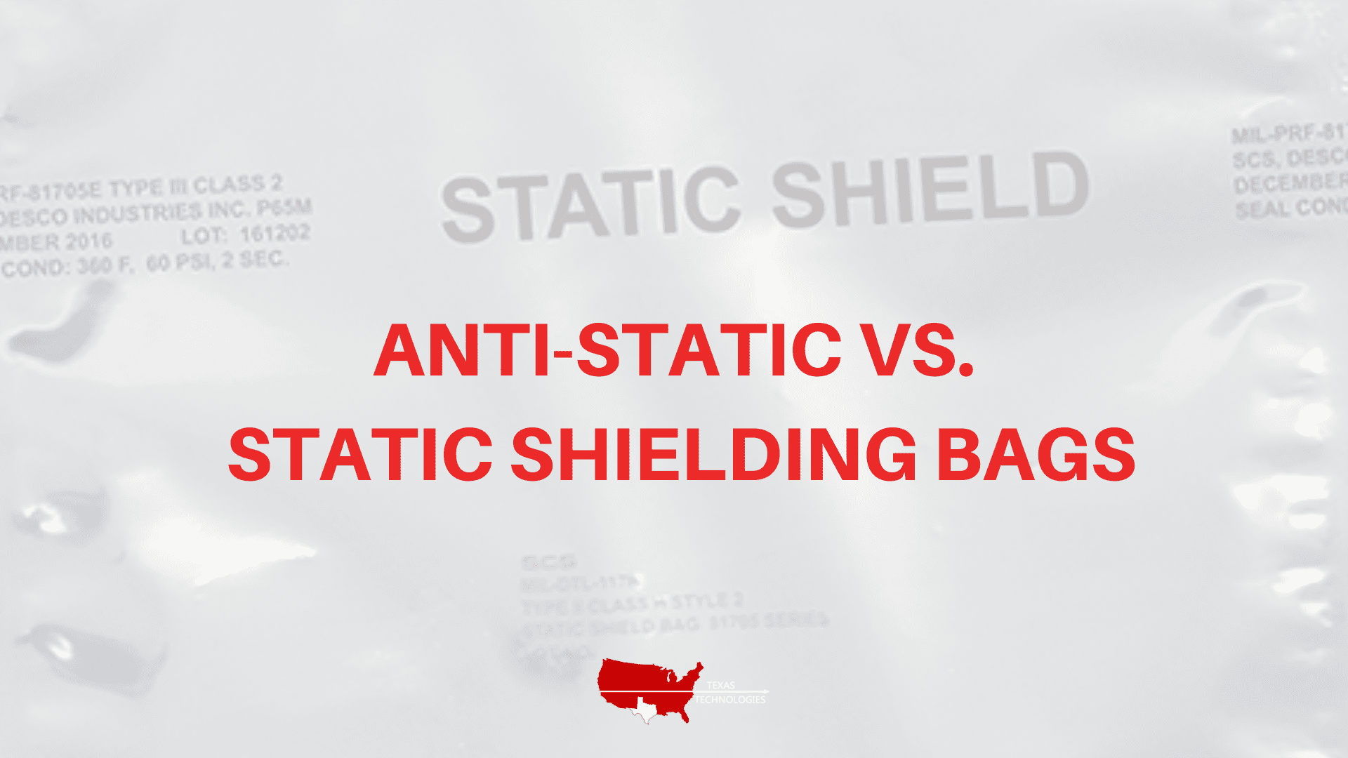 What's the Difference Between Anti-Static and Static Shielding Bags?